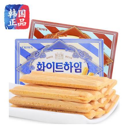 韩国进口零食品 crow克拉奥奶油蛋卷榛子瓦威化饼干休闲零食47g/142g
