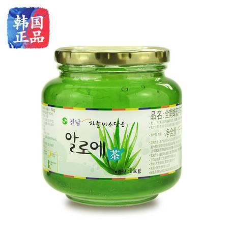 全南蜂蜜芦荟茶1kg韩国进口芦荟茶蜂蜜芦荟果酱泡水喝的饮品冲饮