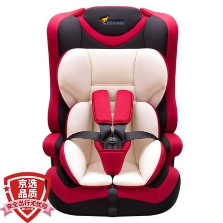 【京东超市】贝贝卡西 国家3C认证 可折叠存放 儿童汽车安全座椅 LB513 红色 9个月-12岁