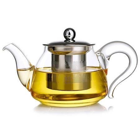 金镶玉 玻璃茶壶  如意壶  耐热玻璃防爆茶壶高硼硅凉水壶