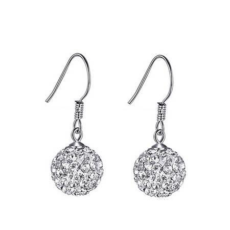 ARMASA/阿玛莎 925银水晶球耳吊时尚流行饰品生日送女朋友礼物