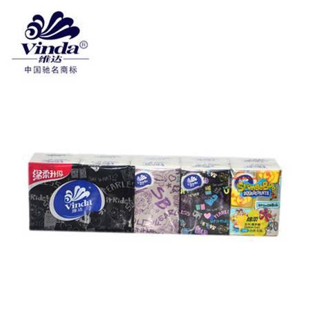 维达/Vinda V0067 海绵宝宝 8张*10包/条 三层迷你纸巾  【6条】