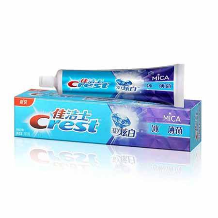 佳洁士 3D炫白冰 薄荷牙膏180克 美白牙齿去黄牙去牙渍清新口
