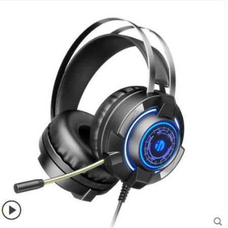 英菲克G2耳机耳麦头戴式电脑电竞游戏专用有线台式笔记本带麦克风话筒二合一usb接口双插头7.1听声辨
