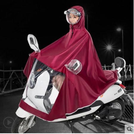 捷昇骑行雨衣雨披成人套装雨具双帽檐摩托车电动连体雨衣单人双人