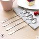 不锈钢长柄搅拌勺小汤匙调料咖啡勺子加长创意冰勺甜品蜂蜜勺
