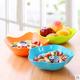 家用干果盘塑料糖果色客厅茶几收纳水果盘小吃盘干果零食盘网红