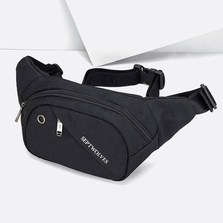 七匹狼男士腰包轻便2021新款时尚运动款手机包休闲大容量斜挎包男
