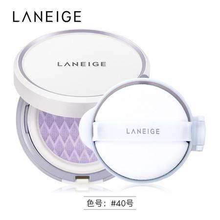 Laneige/兰芝 雪纱修颜气垫隔离霜 SPF14/PA 两色可选
