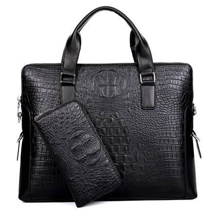 [送手包]迪阿伦 男士手提包 商务包 笔记本电脑包单肩包 男子母斜挎大包