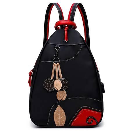 迪阿伦 新款防水牛津布双肩包时尚女包多用背包小包学生包尼龙妈妈包