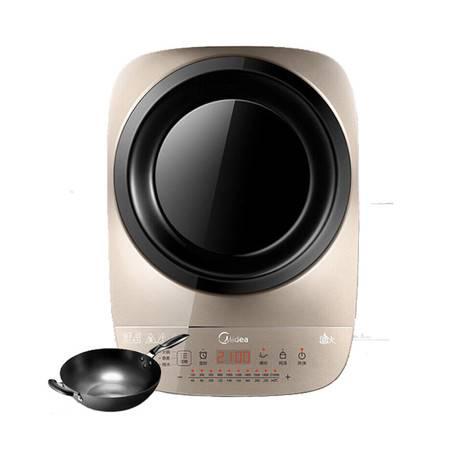 美的/MIDEA 电磁炉 立体火设计凹形面板 稳固支架 IH加热  IH2105U