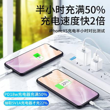 苹果18W数据线快充PD充电线器iPhone11