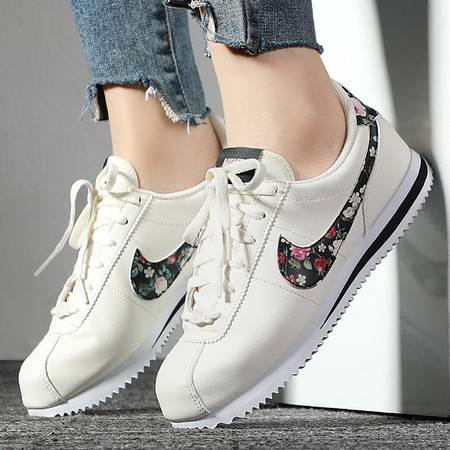 Nike耐克女鞋2019秋季新款花卉阿甘鞋轻便运动鞋复古休闲鞋跑步鞋