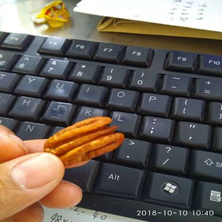 坚果零食碧根果奶油味长寿果炒货,500克