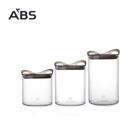 ABS爱彼此 Gracia高硼硅玻璃系列杂粮密封罐(3件组)