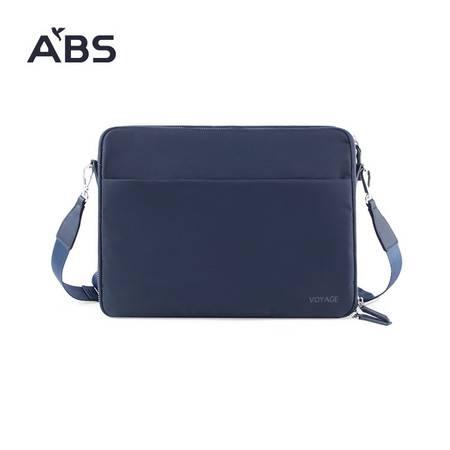 ABS爱彼此 笔记本电脑包14寸男士商务轻便斜跨单肩包男