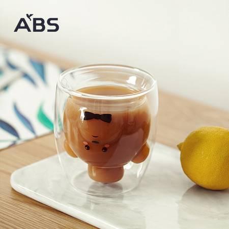 ABS爱彼此 经典双层耐热玻璃杯