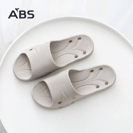 ABS爱彼此  浴室凉拖鞋夏季室内防滑厚底洗澡塑料家居情侣拖鞋