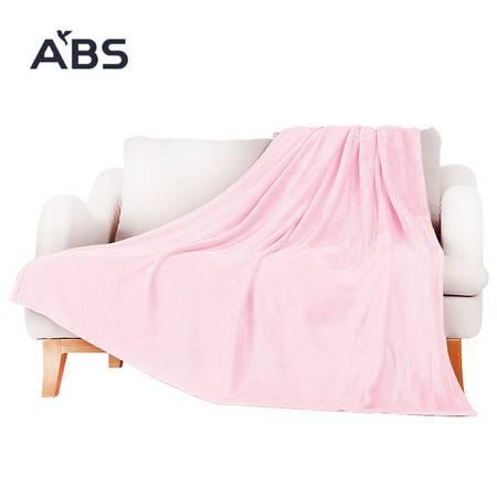 ABS爱彼此 简约多用法兰绒家居毯午睡毯空调毯2米*1.5米