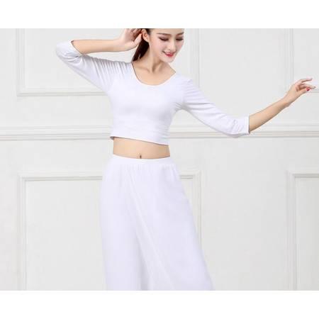 YY舞韵瑜伽服套装女 雪纺白色健身服飘逸纱裤表演服大码肚皮舞蹈服