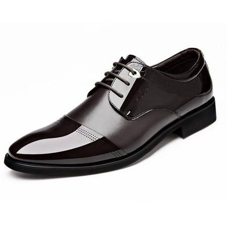 俊斯特男士皮鞋商务正装皮鞋男系带时尚单鞋男鞋
