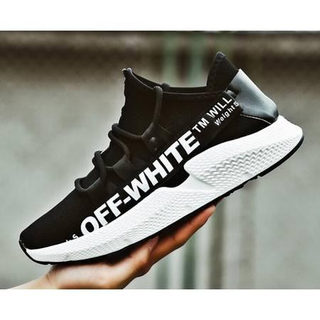 WF夏季男士运动鞋男鞋子韩版潮流透气跑步休闲网面夏天男生跑鞋