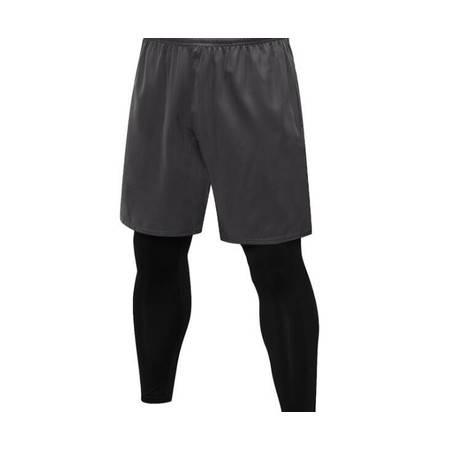 Y男士紧身裤假两件 健身运动跑步训练 休闲弹力速干长裤7010