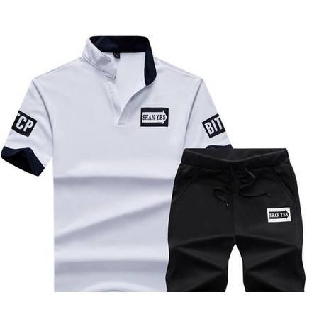 LQ新款薄T恤休闲纯色印花V领套装青少年活动打底衫