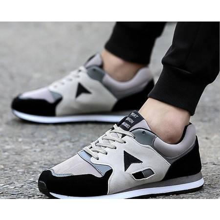 HD春夏季新款拼色男鞋 韩版潮男运动休闲鞋低帮男士跑步鞋