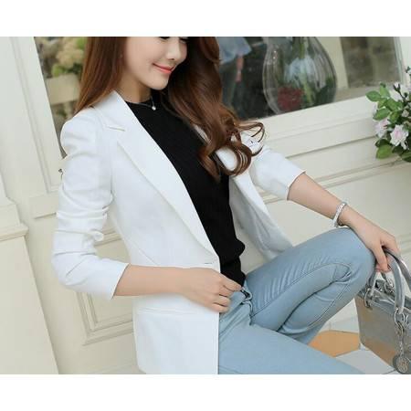 BS春秋季新款西装女韩版长袖小西装外套女职业西装女女装