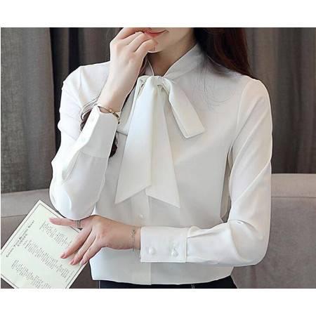 LR雪纺衬衫女装秋款新款潮很仙的上衣气质百搭洋气时尚衬衣