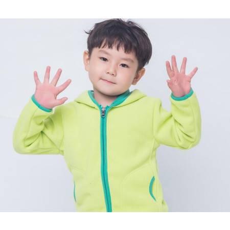 儿童抓绒衣摇粒绒外套帽衫外贸户外大童绒衣小学生园服