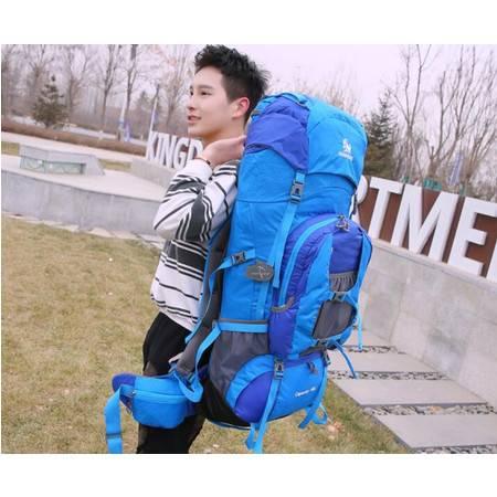 XYF户外登山包男女大容量双肩背包露营帐篷旅行徒步80L防水户外包
