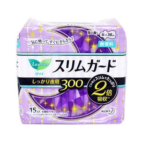 花王/KAO  乐而雅卫生巾30cm15片 单包装 棉柔亲肤 日本进口