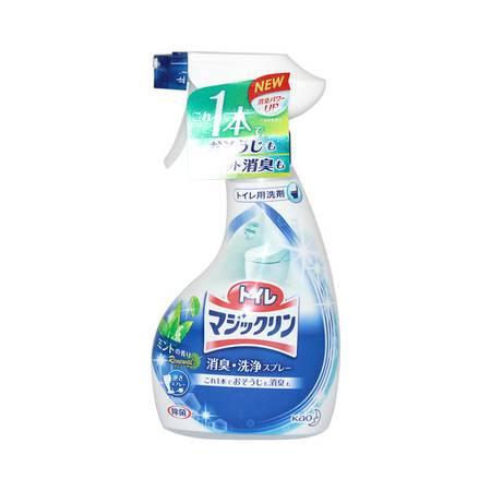 花王洗净洁厕液喷雾 380ML  清爽薄荷香味 去污力强 去除异味 日本进口
