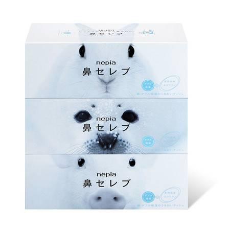 妮飘(Nepia)鼻贵族盒装抽纸200抽X3盒  抽取式面巾纸 日本原装进口