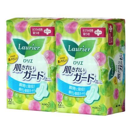花王/KAO 卫生巾乐而雅姨妈巾日本进口卫生棉 日用20.5cm22片2包