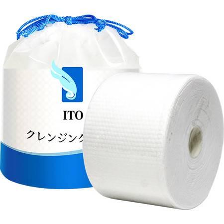日本ITO洗脸巾 纯棉干湿两用一次性洁面巾卸妆棉柔巾美容面巾化妆棉 80条/卷