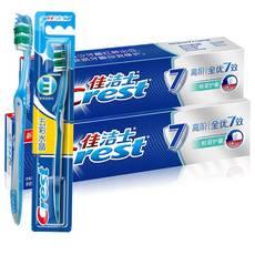 【东莞馆】A佳洁士高阶全优7效根源护龈牙膏140克X2 佳洁士五彩水晶牙刷(软毛)