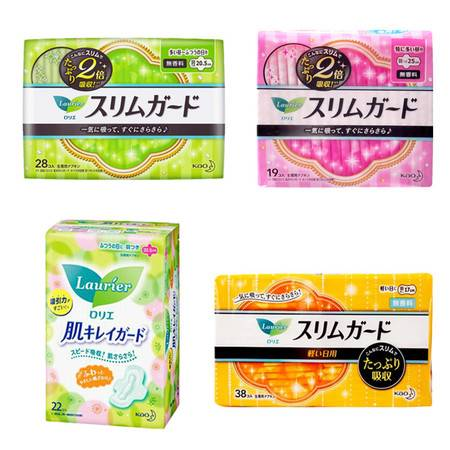 【推荐】2包日本原装花王卫生巾S零触感特薄日用 女性经期护理姨妈巾 超薄透气