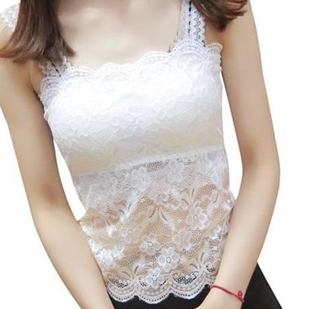 夏季女士韩版打底衫上衣抹胸薄款蕾丝吊带百搭短款小背心大码内搭