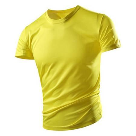 短袖t恤男士宽松冰丝圆领健身汗衫纯色打底夏季速干运动体恤男装