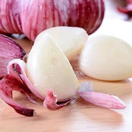 乾礼 紫皮红蒜新鲜农蔬菜干大蒜头糖醋鲜蒜头现挖5斤叶菜类湿蒜