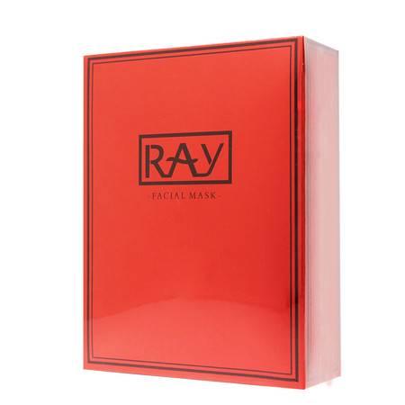 泰国ray面膜补水保湿蚕丝面膜套装 泰国本土版(非芮一版) 红色(10片/盒)
