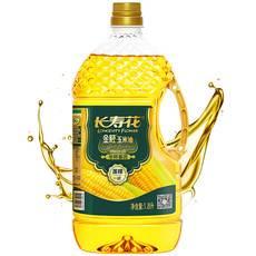 长寿花 金胚玉米油1.8L非转基因物理压榨食用油