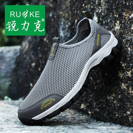 锐力克 夏季男鞋透气网布鞋男士运动休闲鞋单鞋韩版网鞋男网面鞋户外运动鞋 7H1812