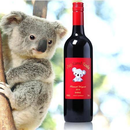 长腿袋鼠 大耳朵考拉澳洲原瓶原装进口红酒西拉干红葡萄酒750ml