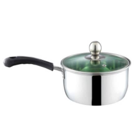海发1厘特厚单柄奶锅(绿色玻璃盖彩盒装)16cm