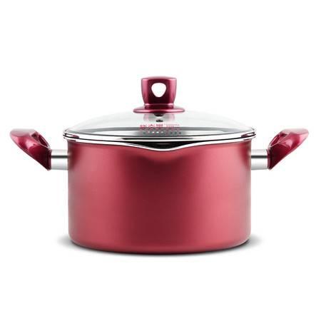 炊大皇汤锅煲汤锅不粘汤锅溢彩复底电磁炉燃气通用锅20cm
